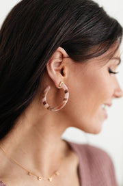 Pink Hoop Earrings - Simply Sass Boutique