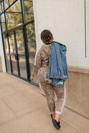 Pink Leopard Joggers - Women's Clothing AfterPay Sezzle KanCan Judy Blue Simply Sass Boutique