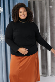 Plain Jane Turtle Neck Top in Black - Women's Clothing AfterPay Sezzle KanCan Judy Blue Simply Sass Boutique