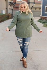 Plain Jane Turtle Neck Top in Cargo - Women's Clothing AfterPay Sezzle KanCan Judy Blue Simply Sass Boutique