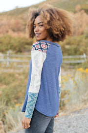 Playful Patterns Top - Women's Clothing AfterPay Sezzle KanCan Judy Blue Simply Sass Boutique