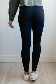 Pockets On The Side Leggings in Black - Women's Clothing AfterPay Sezzle KanCan Judy Blue Simply Sass Boutique