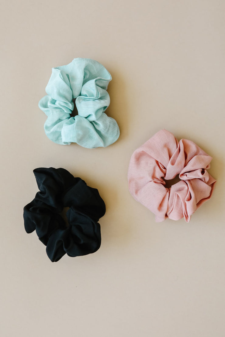 Posh Scrunchie Set - Women's Clothing AfterPay Sezzle KanCan Judy Blue Simply Sass Boutique