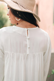 Prickly Business Embroidered Top In White - Women's Clothing AfterPay Sezzle KanCan Judy Blue Simply Sass Boutique