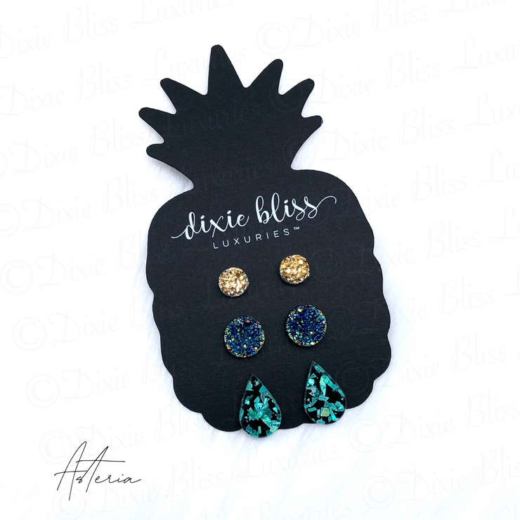 Earring Trio - Asteria - Women's Clothing AfterPay Sezzle KanCan Judy Blue Simply Sass Boutique