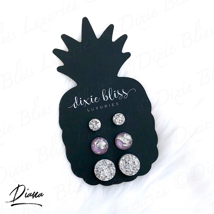 Earring Trio - Diana - Women's Clothing AfterPay Sezzle KanCan Judy Blue Simply Sass Boutique