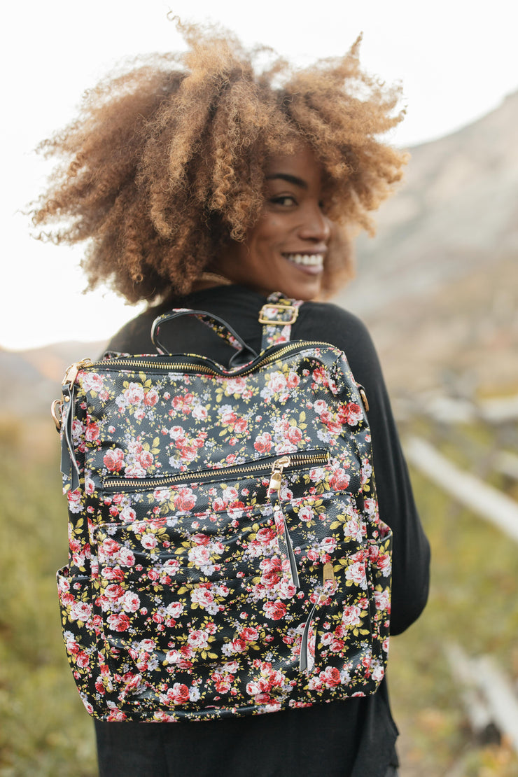 Rockin' Rose Backpack - Women's Clothing AfterPay Sezzle KanCan Judy Blue Simply Sass Boutique