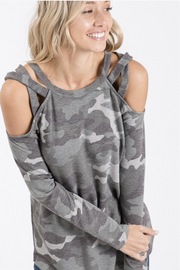 X's and O's Long Sleeve Tee in Camo - In House - Women's Clothing AfterPay Sezzle KanCan Judy Blue Simply Sass Boutique