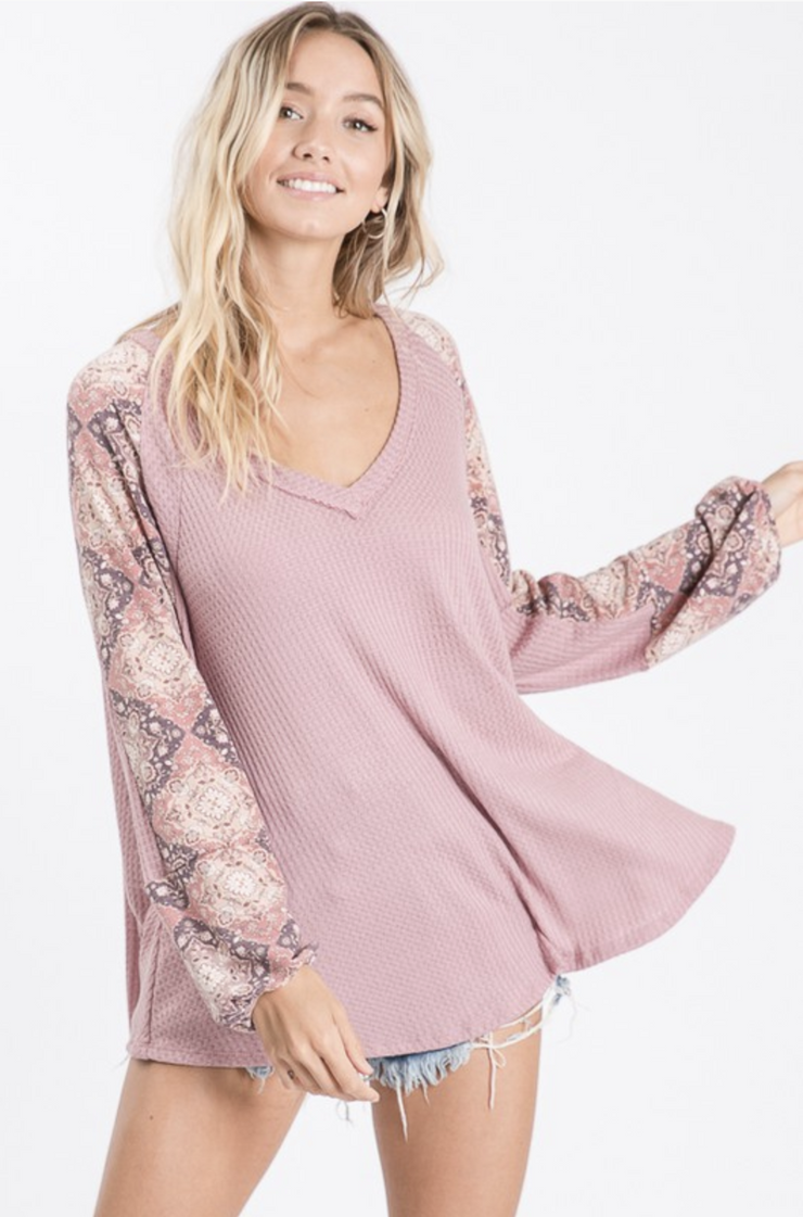 Mauve About You Puff Sleeve Top - In House - Women's Clothing AfterPay Sezzle KanCan Judy Blue Simply Sass Boutique