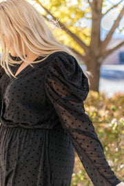 Sheer Sleeve Little Black Dress - Women's Clothing AfterPay Sezzle KanCan Judy Blue Simply Sass Boutique