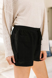 Short 'N' Sweet Shorts In Black - Women's Clothing AfterPay Sezzle KanCan Judy Blue Simply Sass Boutique