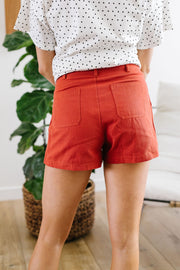 Shorts Sunny Side Up In Rust - Simply Sass Boutique