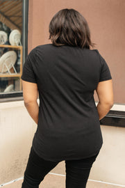 Side Strap Tee in Black - Women's Clothing AfterPay Sezzle KanCan Judy Blue Simply Sass Boutique
