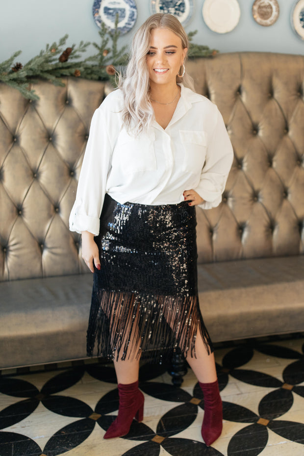 Sierra Sequin Skirt - Women's Clothing AfterPay Sezzle KanCan Judy Blue Simply Sass Boutique