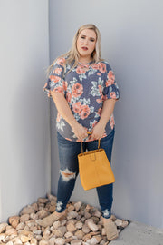 Southern Charm Floral Top - Women's Clothing AfterPay Sezzle KanCan Judy Blue Simply Sass Boutique