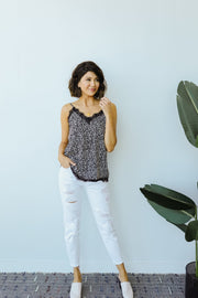 Spot Of Lace Cami - Women's Clothing AfterPay Sezzle KanCan Judy Blue Simply Sass Boutique