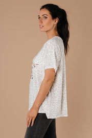 Star Of The Animal Show Top In Stone - Women's Clothing AfterPay Sezzle KanCan Judy Blue Simply Sass Boutique