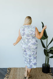 Stars & Camo Unite Midi Dress - Women's Clothing AfterPay Sezzle KanCan Judy Blue Simply Sass Boutique