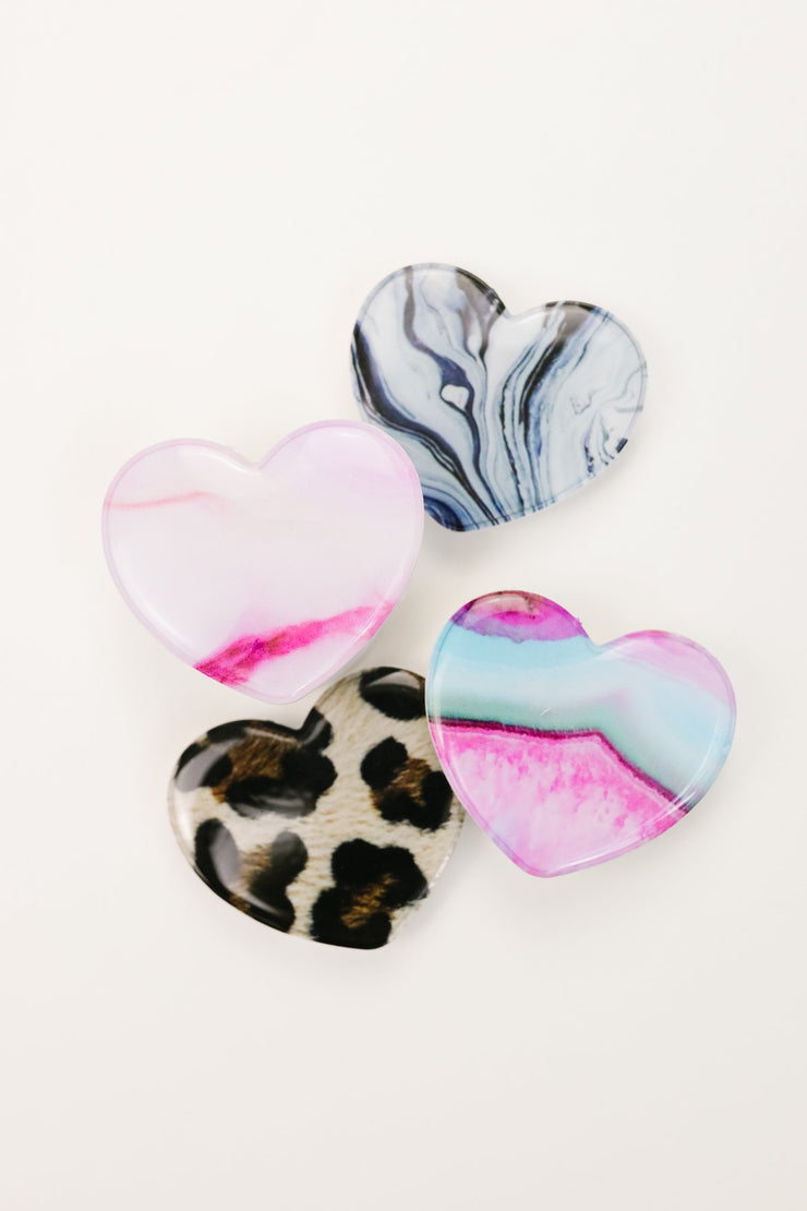 Stone Heart Pop Socket - Women's Clothing AfterPay Sezzle KanCan Judy Blue Simply Sass Boutique