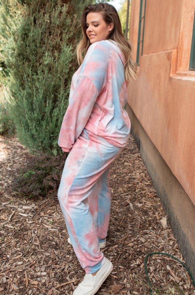 Street Style Tie Dye Joggers - Women's Clothing AfterPay Sezzle KanCan Judy Blue Simply Sass Boutique