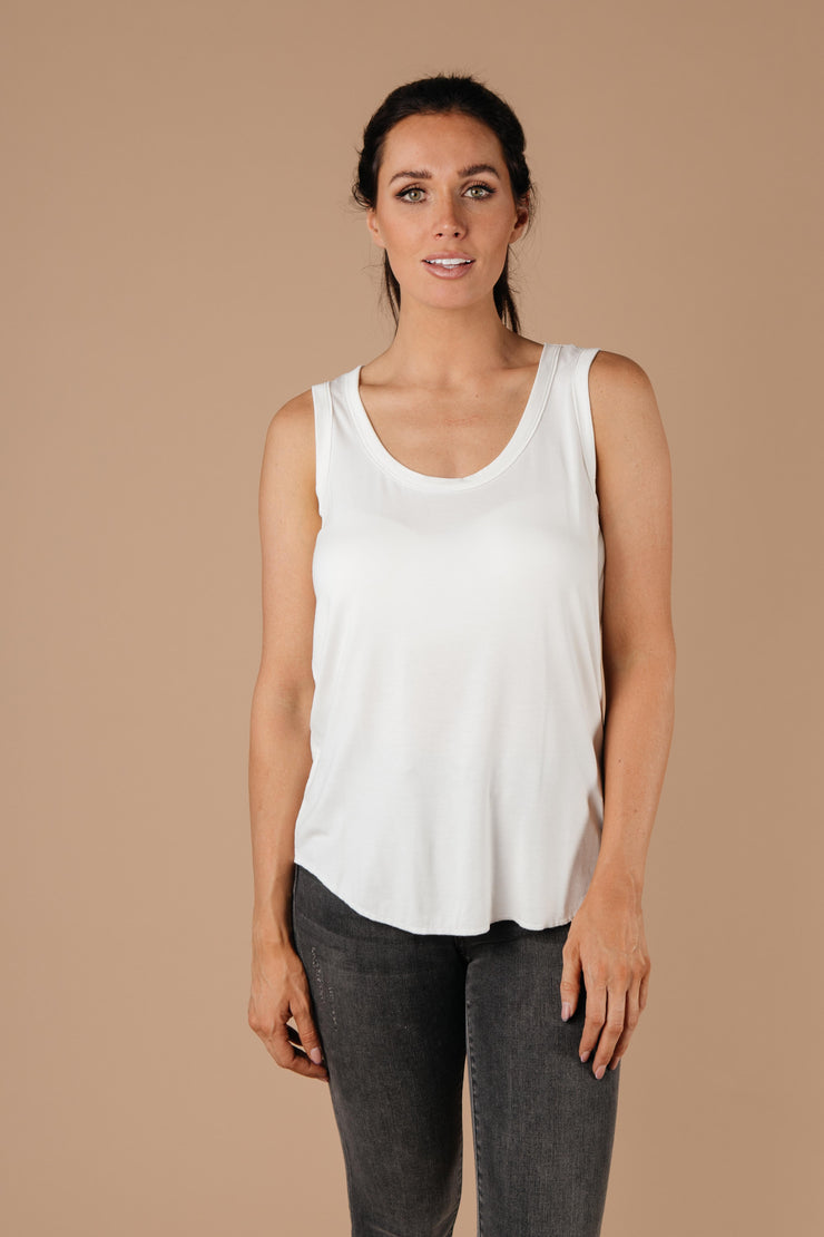 Tank Heavens Off-White Tank Top - Simply Sass Boutique