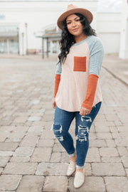 The Age Of Colorblock Top - Women's Clothing AfterPay Sezzle KanCan Judy Blue Simply Sass Boutique