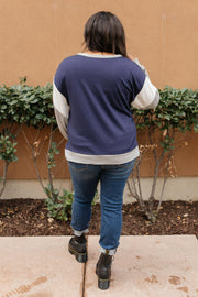 The Bridget Block Top in Navy - Women's Clothing AfterPay Sezzle KanCan Judy Blue Simply Sass Boutique