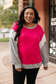 The Bridget Block Top in Rose - Women's Clothing AfterPay Sezzle KanCan Judy Blue Simply Sass Boutique