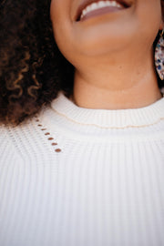 The Clara Turtle Neck Top in White - Women's Clothing AfterPay Sezzle KanCan Judy Blue Simply Sass Boutique