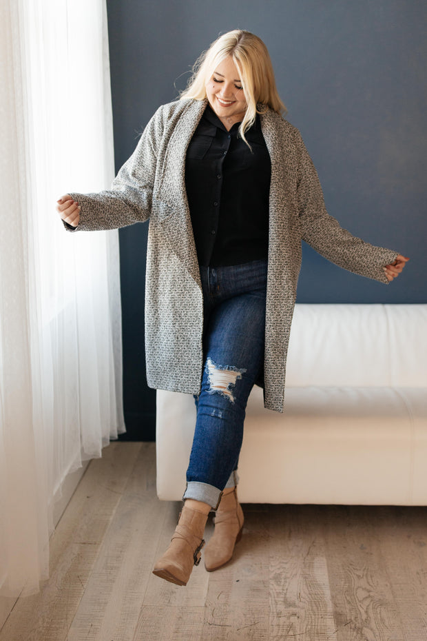 The Cold Can't Stop Me Coat in Charcoal - Women's Clothing AfterPay Sezzle KanCan Judy Blue Simply Sass Boutique