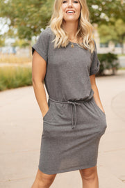 The Day Out Dress in Charcoal - Women's Clothing AfterPay Sezzle KanCan Judy Blue Simply Sass Boutique