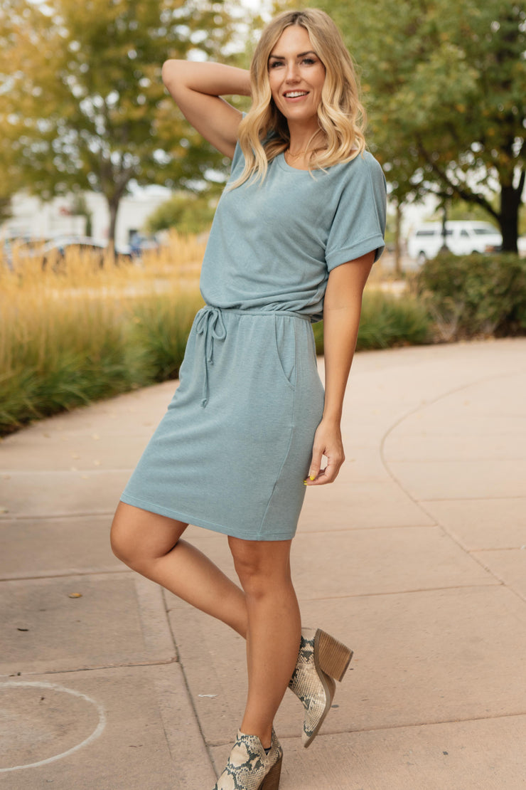 The Day Out Dress in Dusty Blue - Women's Clothing AfterPay Sezzle KanCan Judy Blue Simply Sass Boutique
