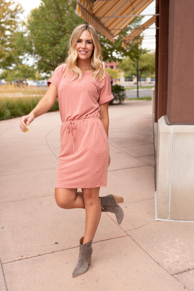 The Day Out Dress in Terracotta - Women's Clothing AfterPay Sezzle KanCan Judy Blue Simply Sass Boutique