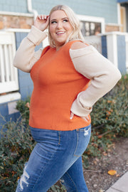 The Ellie Drop Shoulder Top in Pumpkin - Women's Clothing AfterPay Sezzle KanCan Judy Blue Simply Sass Boutique