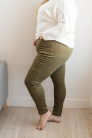 The Jessie Jean in Olive - In House - Women's Clothing AfterPay Sezzle KanCan Judy Blue Simply Sass Boutique