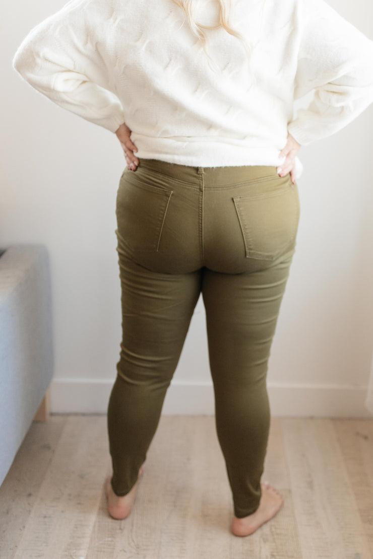 The Jessie Jean in Olive - Women's Clothing AfterPay Sezzle KanCan Judy Blue Simply Sass Boutique
