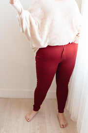 The Jessie Jean in Wine - Women's Clothing AfterPay Sezzle KanCan Judy Blue Simply Sass Boutique