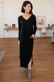 The Melanie Maxi Dress in Black - Women's Clothing AfterPay Sezzle KanCan Judy Blue Simply Sass Boutique