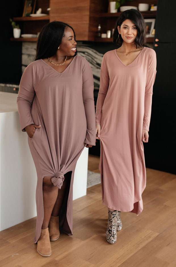 The Melanie Maxi Dress in Mauve - Women's Clothing AfterPay Sezzle KanCan Judy Blue Simply Sass Boutique