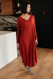 The Melanie Maxi Dress in Rust - Women's Clothing AfterPay Sezzle KanCan Judy Blue Simply Sass Boutique