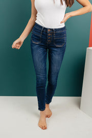 The One With Unique Pockets Medium Wash Jeans - Women's Clothing AfterPay Sezzle KanCan Judy Blue Simply Sass Boutique