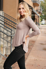 The Wendi Top in Ash - Women's Clothing AfterPay Sezzle KanCan Judy Blue Simply Sass Boutique