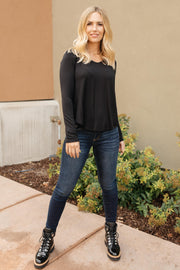 The Wendi Top in Ebony - Women's Clothing AfterPay Sezzle KanCan Judy Blue Simply Sass Boutique