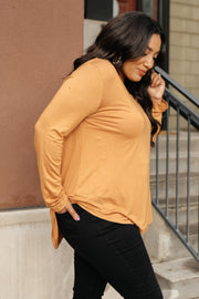 The Wendi Top in Harvest Orange - Women's Clothing AfterPay Sezzle KanCan Judy Blue Simply Sass Boutique
