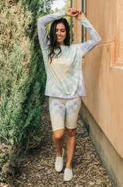 Tickle Me Tie Dye Shorts in Melon - Women's Clothing AfterPay Sezzle KanCan Judy Blue Simply Sass Boutique