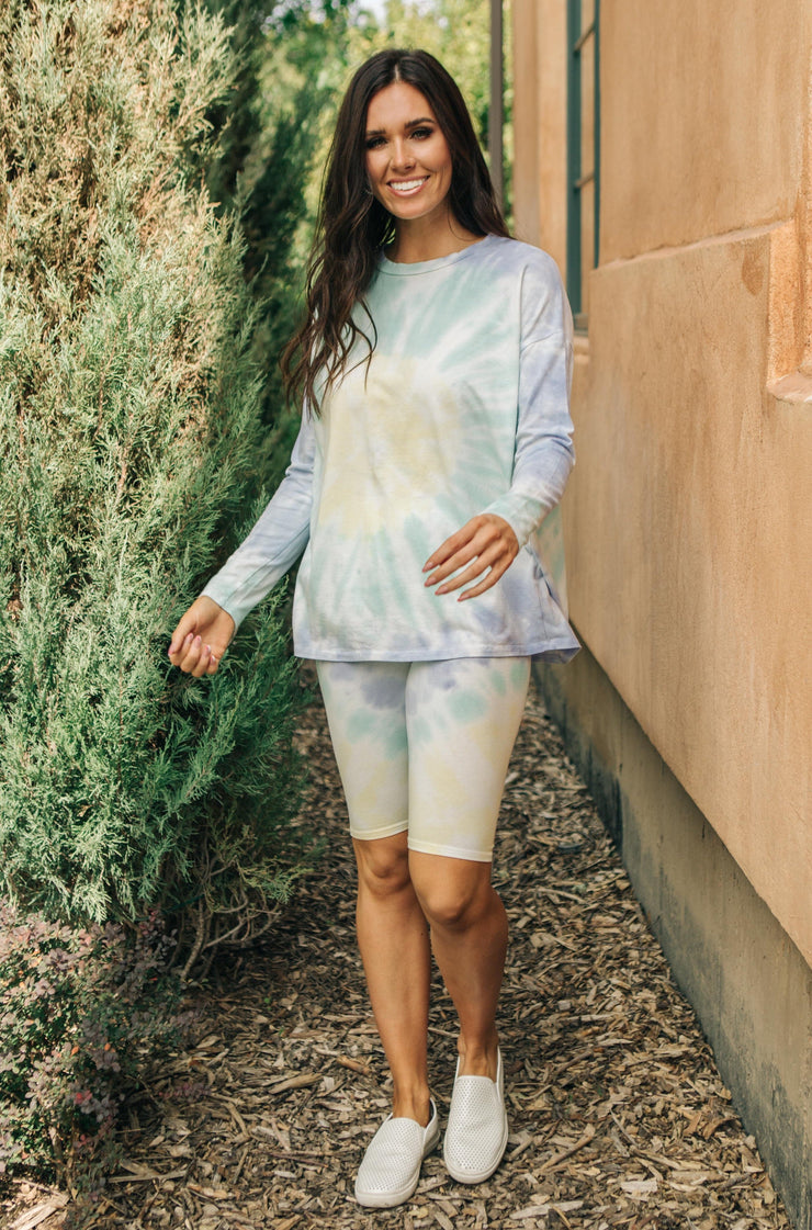 Tickle Me Tie Dye Top in Melon - Women's Clothing AfterPay Sezzle KanCan Judy Blue Simply Sass Boutique