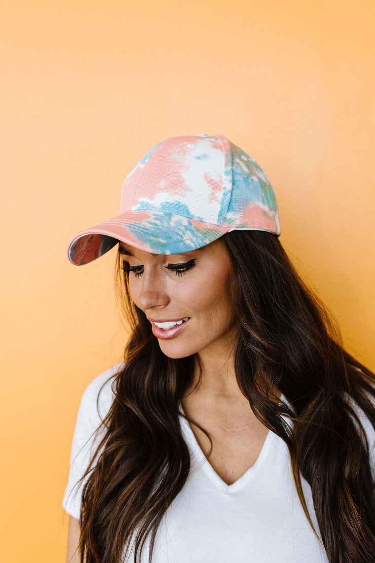 Tie Dye Cap - Women's Clothing AfterPay Sezzle KanCan Judy Blue Simply Sass Boutique
