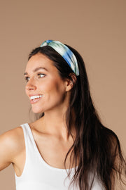 Tie Dye The Knot Headband In Blue & Green - Women's Clothing AfterPay Sezzle KanCan Judy Blue Simply Sass Boutique