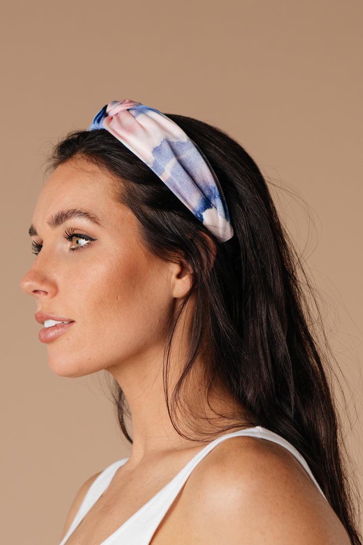 Tie Dye The Knot Headband In Pink & Purple - Women's Clothing AfterPay Sezzle KanCan Judy Blue Simply Sass Boutique
