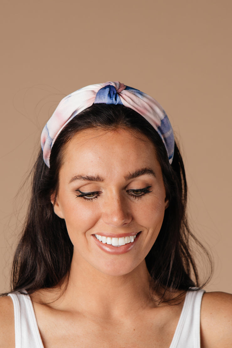 Tie Dye The Knot Headband In Pink & Purple - Simply Sass Boutique